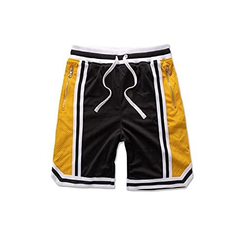 LDD Pantaloncini Sportivi in Maglia Sportiva da Uomo Sportiva per Il Tempo Libero Fitness Fitness Allenamento all'aperto Basket Shorts da Corsa
