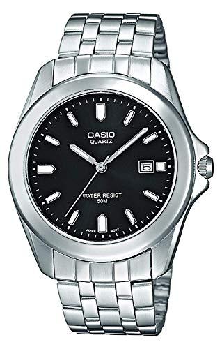 Casio Herren Analog Quarz Uhr mit Edelstahl Armband MTP-1222A-1AVEF