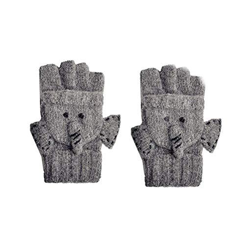 FENICAL Guantes Invierno cálido engrosamiento lindo animal guantes lana rocío doble uso guantes mujeres