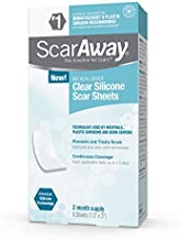 ScarAway Clear Silicone Scar Sheets, White, 6 Count