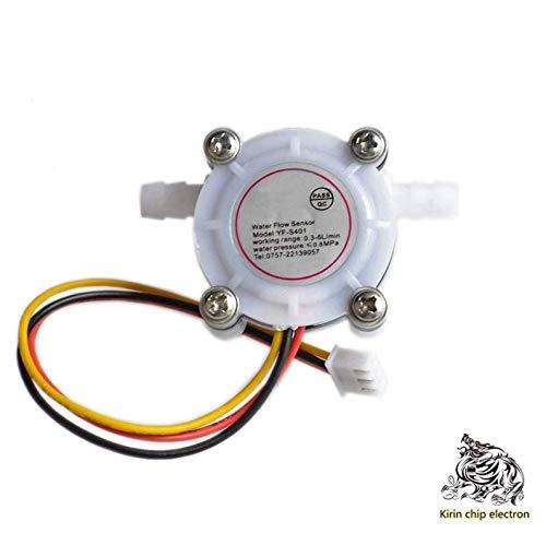 5PCS/LOT coffee machine flowmeter water flow sensor is connected to 6mm hose water purifier Hall sensor YF-S401