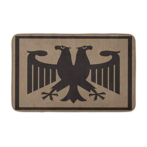 AoLismini Alfombra de baño Alemana Fantástica Águila Imperial Pájaro de la Herencia Rusia Rusia Armas acogedoras Decoración de baño Alfombra de baño con Respaldo Antideslizante
