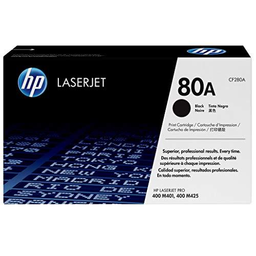 HP 80A (CF280A) Schwarz Original Toner für HP Laserjet Pro M401, HP Laserjet Pro M425