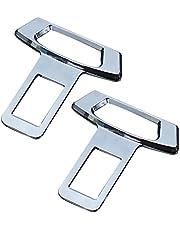 Autogordelclip, 2PCS Universele metalen autogordelgesp Veiligheidsgordelplug Alarmstopper Zilver Goud en matzwart Legering Materiaal Compatibiliteit met de meeste voertuigen