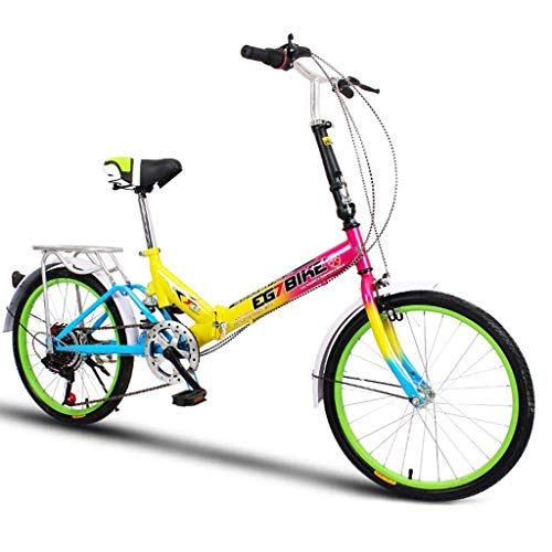 HYCy Foldable Bikes Folding Bicycle Ultra Light Portable Mini Small Wheel...