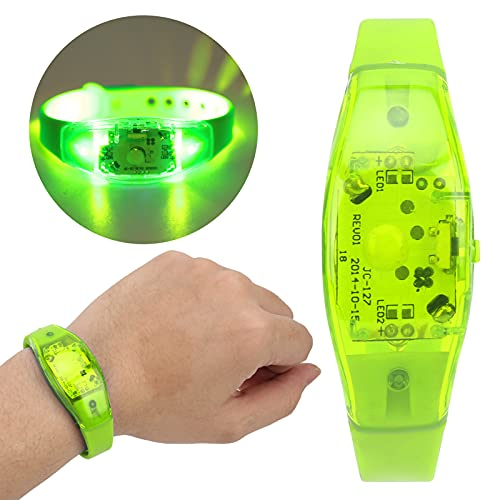 Pulsera LED, pulsera parpadeante notable para Night Run para conciertos musicales para fiestas(green)