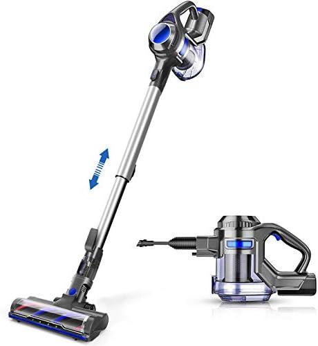 MOOSOO Cordless Vacuum, 4 in 1 Powerful Suction Stick Vacuum 1.3L Capacity for Home Hard Floor Carpet Car Pet Lightweight
