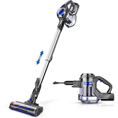 MOOSOO Cordless Vacuum, 4 in 1 Powerful Suction Stick Vacuum Cleaner 1.3L Capacity for Home Hard Floor Carpet Car Pet Lightweight
