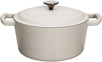 Ceramic Pot Sauce Pan Saucepan with Lid Small Multipurpose Use Cooking Pot for Home Kitchen Even Heating Base (Color : White)