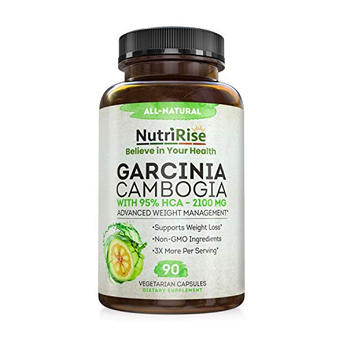 Pure Garcinia Cambogia Extract - with 95% HCA - Best Appetite Suppressant & Carb Blocker for Clinically Proven Weight Loss, Fat Burner Supplement for Men & Women - Ultimate Metabolism Booster - Keto