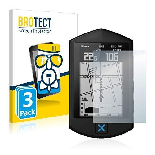 BROTECT Protector Pantalla Cristal Compatible con Xoss Sprint Protector Pantalla Vidrio (3 Unidades) - Dureza Extrema, Anti-Huellas, AirGlass