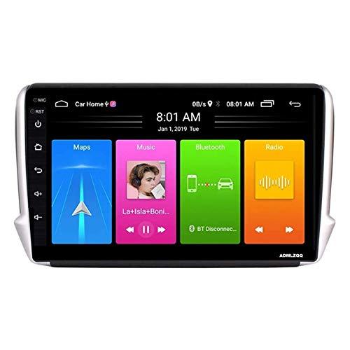 WY-CAR Radio Multimedia Estéreo De Navegación para Automóvil con Android 8.1 De 10.1 Pulgadas para Peugeot 2008208 Series 2015-2018, Control De Internet/GPS/FM/Volante De Bluetooth