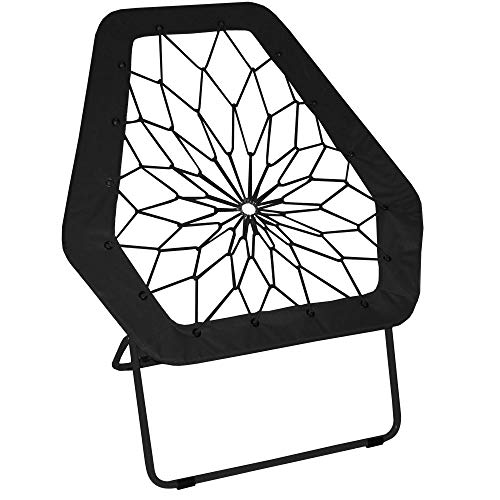 Impact Canopy 460070002 Hex Portable Folding Bungee Chair, Black