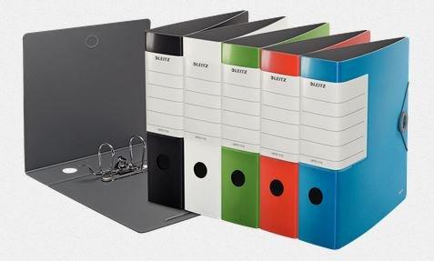 Leitz Qualitäts-Ordner 180° Solid A4 für ca. 500 Blatt (alle 5 Farben jeweils 2X in Einem 10er Spar-Set)