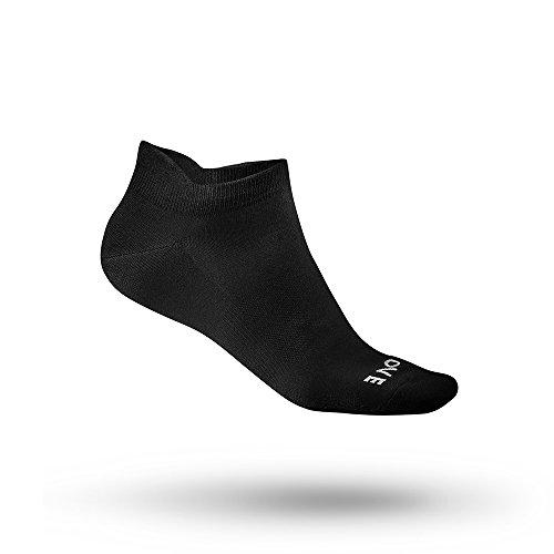 GripGrab Unisex– Erwachsene Classic No-Show Sommer Fahrrad Sneaker Socken Extrem Kurze Radsportsocken Füßlinge Spinning Indoor Cycling, Schwarz, M (41-44)