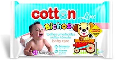 Toalha Umedecida Bichos 48 Unid, Cotton Line