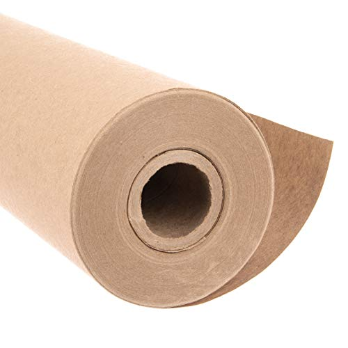 Eco Kraft Wrapping Paper Roll (Jumbo Roll)   Biodegradable Recycled Material   Made in the USA   Multi-use: Natural Wrapping Paper, Table Cover/Runner, Moving, Packing & Shipping   30