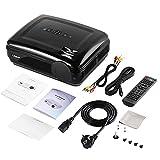 -BL58 Proyector LED Proyector de vídeo negro portátil Proyector de juegos de cine en casa compatible con HDMI VGA USB WiFi