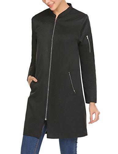 Parabler Damen Windbreaker Leichte Jacke Windmantel Laufjacke Winddicht Übergangs Jacken Langer Mantel Frühling Herbst Stilvoll Outwear