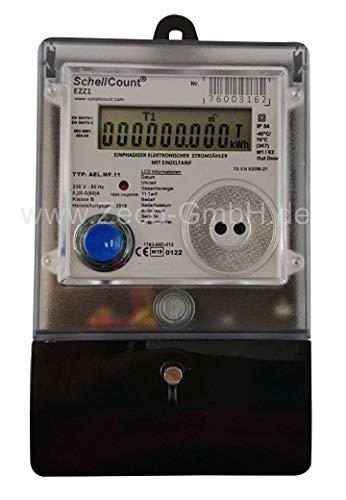 elektronischer Wechselstromzähler 60A MID 2019 Zulassung bzw. geeicht und für Verrechnungszwecke zugelassen von SchellCount EZZ1