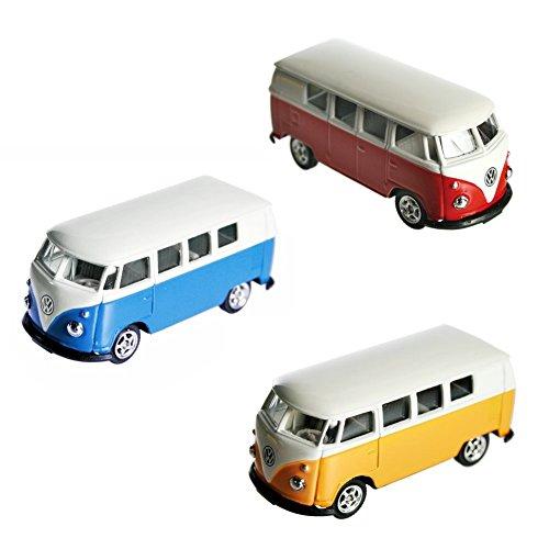 1 Stück VW T1 Bus Bulli 4-farbig sortiert leider keine Auswahl möglich Modellauto Fertigmodell