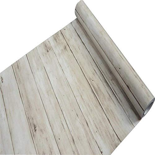 Tablones de madera rústicos decorativos Contacto de papel Auto adhesivo Estante de...
