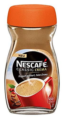 NESCAFÉ Classic Crema löslicher Bohnenkaffee (mit feinen Kaffeebohnen, cremiger Instant-Kaffee) 1er Pack (1 x 200g)