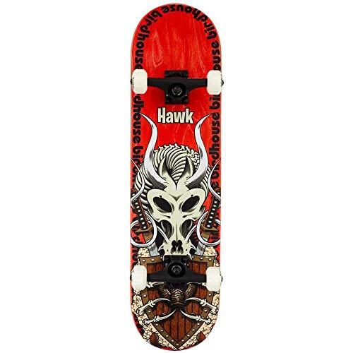 Birdhouse - Skateboard completo Stage 3 Tony Hawk Gladiator rosso 20,6 cm