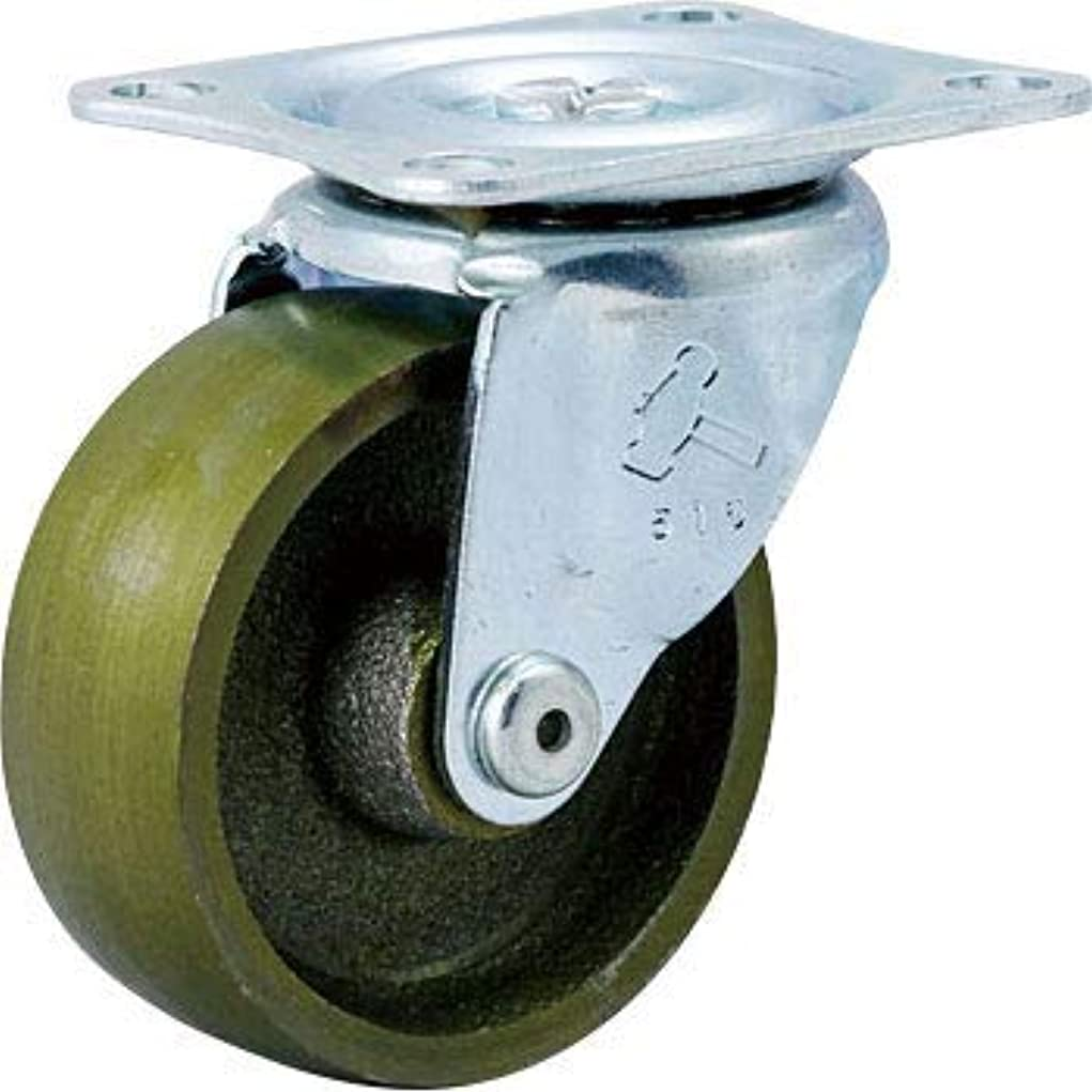 含意首相アジテーションハンマー キャスター車輪 420G-C 65mm イモノ一体車輪 平付プレート 自在 旋回式