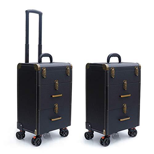 Boîte À Outils De Coiffure Haut De Gamme Nail Technician Trolley Case Cosmétiques Beauty Trolley Box Travel Makeup Case Storage Box,C