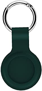 Berrywho Silikon Skydds läder Kompatibel med Airtags Protective Cover, Bluetooth Tracker Cover, Airtags tillbehör Gray med...
