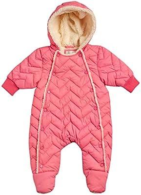 Urban Republic Baby Girls Pram Snowsuit with Full Sherpa Lining (Newborn), Size 6 Months, Power Pink'