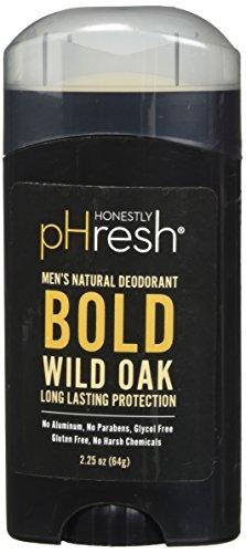 HONESTLY PHRESH Wild Oak Stick Deodorant Men, 0.02 Pound