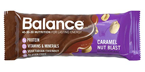 Balance Bar, Healthy Protein Snacks, Caramel Nut Blast, With Vitamin A, Vitamin C, Vitamin D, and Zinc to Support Immune Health, 1.76 oz, 6 Count