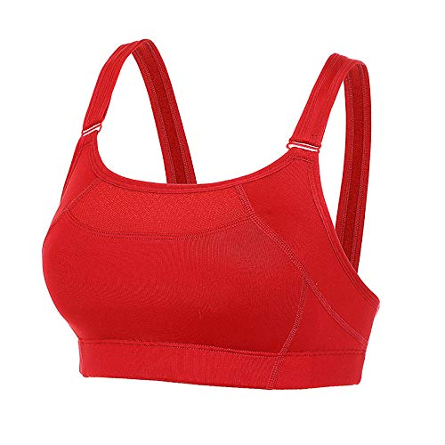 Sport BH Frauen High Impact Wirefree Full Coverage Bounce Control Workout Sport Bra-Lotus_Red08_H_32