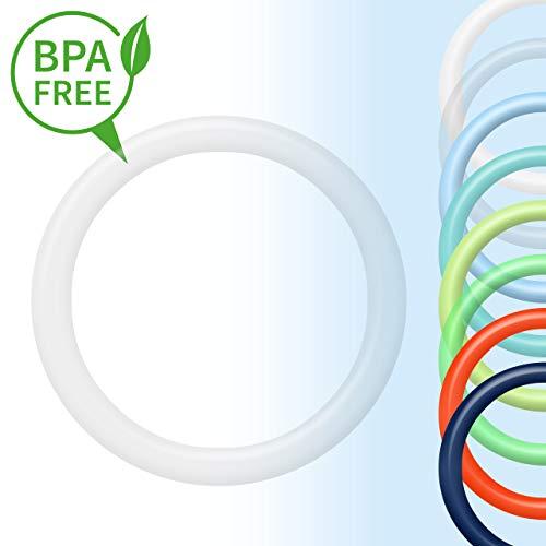 O-Ring | Silikonring | Schnullerkette Adapter für Schnuller ohne Henkel | transparent Junge