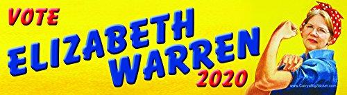 Vote Elizabeth Warren 2020 Rosie The Riveter Style Bumper Sticker