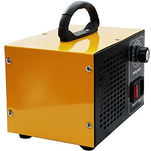ATWFS Industrial Generador de Ozono Purificador de Aire, 48.000 mg / h 60.000 mg / h Desodorizador de Ozono con Temporizador de 60 Minutos, Limpia Más de 300㎡ (Amarillo, 48000mg/H)
