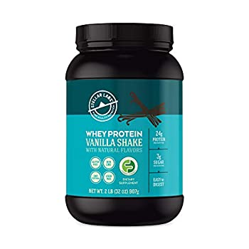 Vanilla Whey Protein Powder Gluten-Free High Protein Low Carb Keto LowFODMAP Easy to Digest All Natural with Stevia 28 Servings 32oz