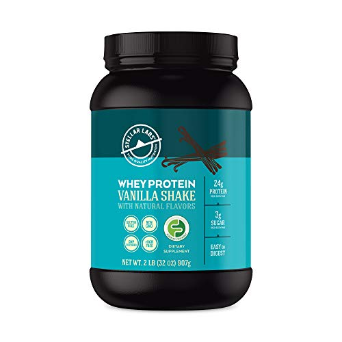 Vanilla Whey Protein Powder, Gluten-Free, High Protein, Low Carb, Keto, LowFODMAP, Easy to Digest, All Natural with Stevia, 28 Servings, 32oz