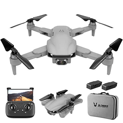 XIAOKEKE GPS RC Drone con Fotocamera 6K Brushless Motor 5G WiFi FPV Posizionamento del Flusso Ottico Quadcopter Punto di Interesse Waypoint Volo 3000M Distanza (2 Batterie),Grigio