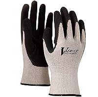 おたふく手袋 A-34 厚手ゴム 背抜き手袋 グレー×ブラック  Mサイズ 10双セット販売