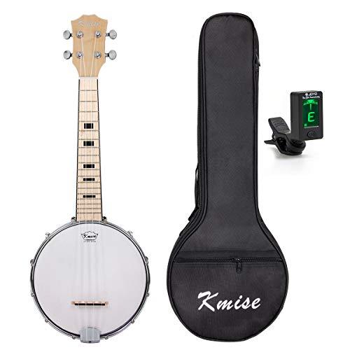 Kmise banjo Ukulele banjo lele 4 corde Ukulele Uke Concerto 23 pollici Dimensioni acero con il sacchetto Tuner
