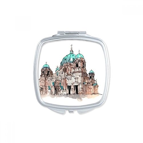DIYthinker Big Ben en Grande-Bretagne Place Makeup Compact Miroir de Poche Portable Mignon Petit Cadeau Miroirs Main Multicolor
