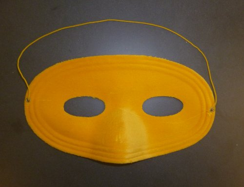 Pack of 12 Yellow Soft Feel Eye Masks - Halloween/ Dress Up/ Party Bags (HW227)