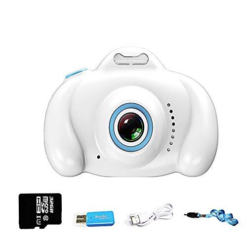 Kinderkamera, Digitalkamera für Kinder mit 8 Megapixeln 1080P HD, Kinderkamera-Videorecorder mit 32 GB SD-Karte, Geburtstagsfest Neujahrs-Weihnachtsspielzeuggeschenk für Kinder Jungen Mädchen(Weiß)