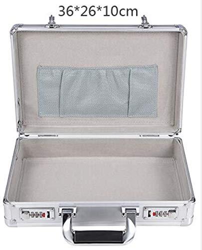 Gereedschapskist LKU Toolbox Business Consulting Portable koffer voor heren, Zilver