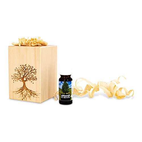Zirbenduftset Baum des Lebens mit Zirben-Späne + Bio-Zirbenöl (10ml)