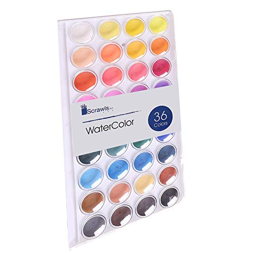 Watercolor Cake Set, 36 Watercolor Paint Set. This Watercolors are Great for Children/Kids. The Perfect Water Color pan Set.