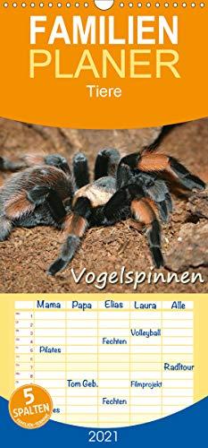 Vogelspinnen - Familienplaner hoch (Wandkalender 2021, 21 cm x 45 cm, hoch)